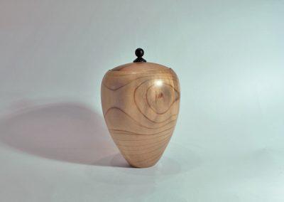Boite en bois de magnolia - Bouton en ébène