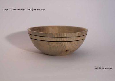 Coupe en bois de plataner