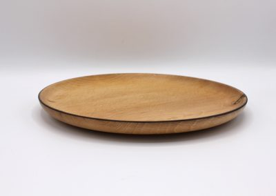 Assiette plate en bois