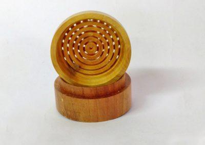 Boite en bois de mirabellier et buis