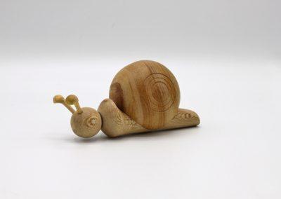 Escargot en bois - Reconversion professionnelle .